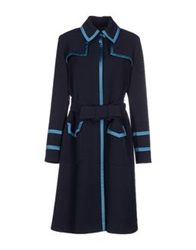 Gattinoni Coats Dark Blue