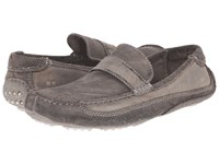 Bed Stu Tejon Pass Grey Garment Dyed Crust Suede Leather Men's Slip On Shoes Gray