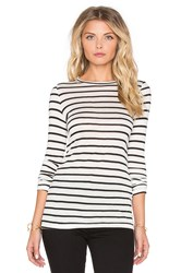 Nightcap Silk Stripe Long Sleeve Tee Black