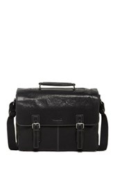Kenneth Cole Flap Py As Can Be Leather Messenger Bag Black