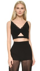 Versace Sleeveless Crop Top Black