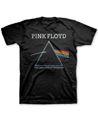 Jem Men's Big And Tall Prism Pink Floyd T Shirt Black Speckle