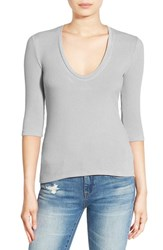 Project Social T Women's Scoop Neck Ribbed Tee Stone