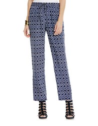 Vince Camuto Tribal Batik Drawstring Pants Navy