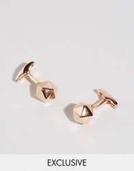 Simon Carter Buckminster Cufflinks In Rose Gold Gold