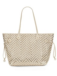 Saks Fifth Avenue Erica Woven Metallic Faux Leather Tote