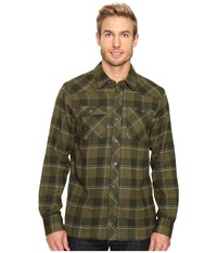 Outdoor Research Feedback Flannel Shirt Kale Men's Long Sleeve Button Up Green