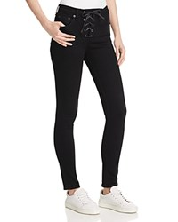 Rag And Bone Rag And Bone Jean Lace Up High Rise Skinny Jeans In Black Coal