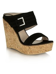 Daniel New Orleans Two Bar Wedge Mules Jet Black