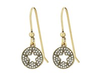 Marc Jacobs Pave Star Earrings Crystal Antique Gold