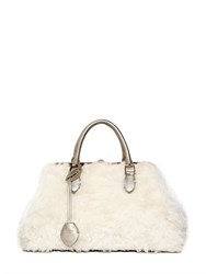 Rochas Madame Mohair Fur Top Handle Bag