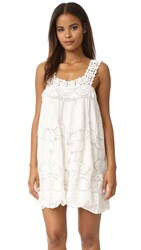 Love Sam Flower Crochet Dress Ivory