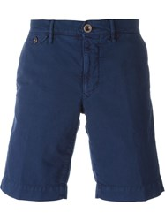 Incotex Stretch Bermuda Shorts Blue