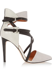 Rebecca Minkoff Leather And Stingray Effect Pumps White