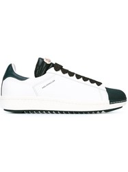Moncler Lace Up Low Top Sneakers White