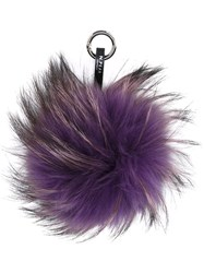 N.Peal Fur Keyring Pink And Purple