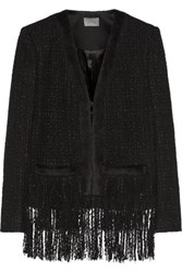 Maiyet Fringed Tweed And Alpaca Blend Jacket Black
