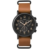 Timex Weekender Chrono Oversized Watch Black