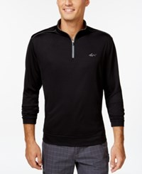 Greg Norman For Tasso Elba 1 4 Zip Pullover Deep Black