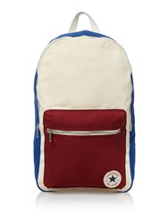 Converse Block Panel Canvas Backpack Multi Coloured Multi Coloured