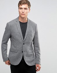 Jack And Jones Premium Blazer In Tweed Light Grey Marl