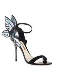 Sophia Webster Chiara Butterfly Suede Sandals Black Multi
