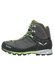 Salewa Mtn Trainer Mid Gtx Walking Boots Pewter Emerald Dark Gray