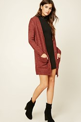 Forever 21 Wool Blend Cardigan Rust