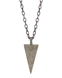 Triangle Diamond Dagger Long Necklace Siena Jewelry Red