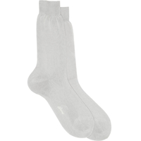 Brioni Solid Socks Gray