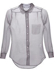 Thom Browne Sheer Shirt Grey