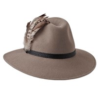 Penmayne Of London Willow Fedora Mink Festival Band Nude Neutrals