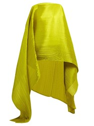 Issey Miyake Madame T Pleated Scarf Yellow