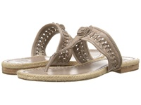 Frye Cleo Concho Thong Grey Smooth Vintage Leather Women's Sandals Beige