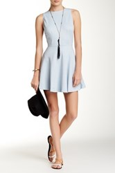 American Apparel Ponte Sleeveless Skater Dress Blue