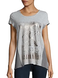 Calvin Klein Jeans Colorblock Graphic Printed T Shirt Light Grey