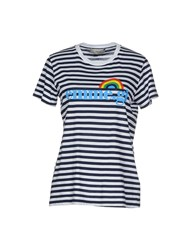 M.Grifoni Denim Topwear T Shirts Women Dark Blue