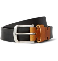 Oliver Spencer 2.5C Black Anor Leather Belt Black