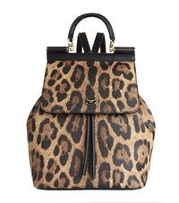 Dolce And Gabbana Zaino Crespo Leopard Backpack Female