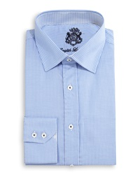 English Laundry Zigzag Woven Dress Shirt Blue