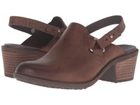 Teva Foxy Clog Leather Brown Women's Clog Mule Shoes