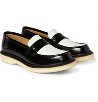 Adieu Two Tone Crepe Soled Penny Loafers