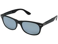 Ray Ban Rb4223 Folding Lite Force Tech Matte Black Green Mirror Silver Fashion Sunglasses Blue
