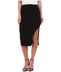 Lna Double Layer Pencil Skirt Black Women's Skirt