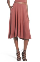 Women's Leith Circle Midi Skirt Brown Mahogany