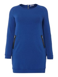 Persona Oriente Zip Detail Tunic Top Blue