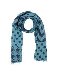 Mauro Grifoni Accessories Oblong Scarves Men Dark Blue