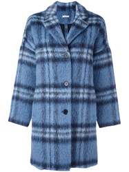 P.A.R.O.S.H. Checked Coat Blue