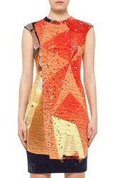 Women's Akris Punto 'Rock Climbing Wall' Cap Sleeve Sheath Dress
