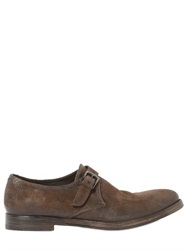 Alberto Fasciani Washed Suede Monk Strap Shoes